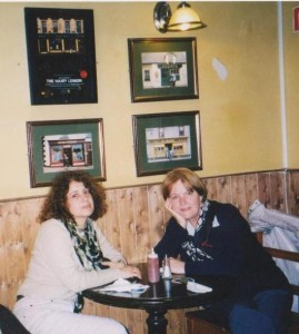 Frances (a sinistra) e Giuliana a Dublino