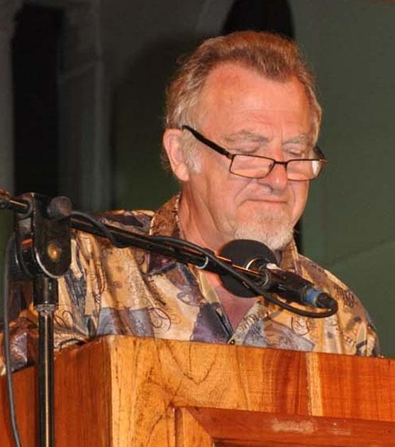 Germain reading in Granada, Nicaragua February 2012