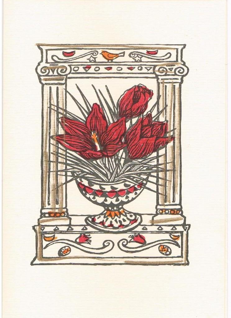 crocus card
