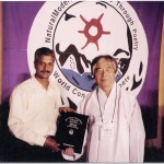 Ashok Chakravarthy and Baek Han Yi in South Korea