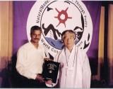 Ashok Chakravarthy and Baek Han Yi in South Korea