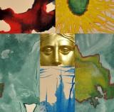 collage di foto e particolari di opere di Gianni Bava
