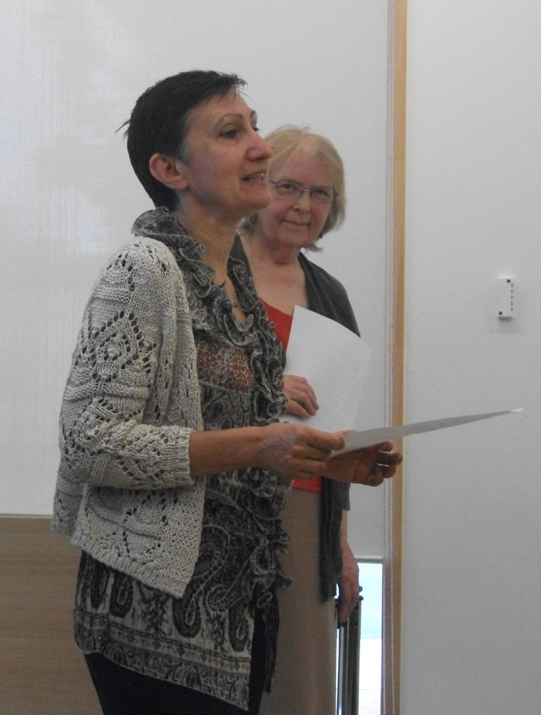 Viv Longley and Silvia Pio at the Reading in Wakefield