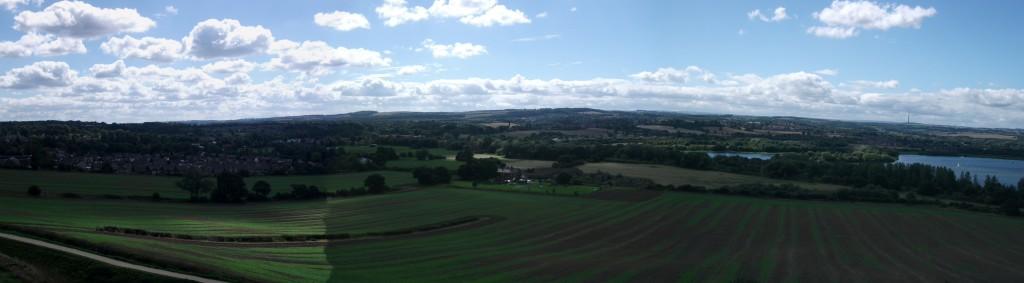 landscape from Sandal Castle
