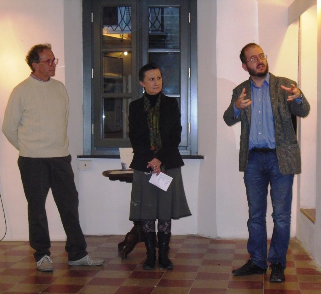 da sinistra: Fiorenzo Calosso, Silvia Pio e Lorenzo Barberis