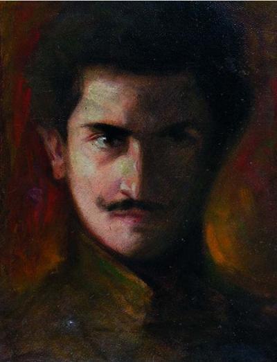 """LORENZO BARBERIS. """" - 1900s-Autoritratto-giovanile"""