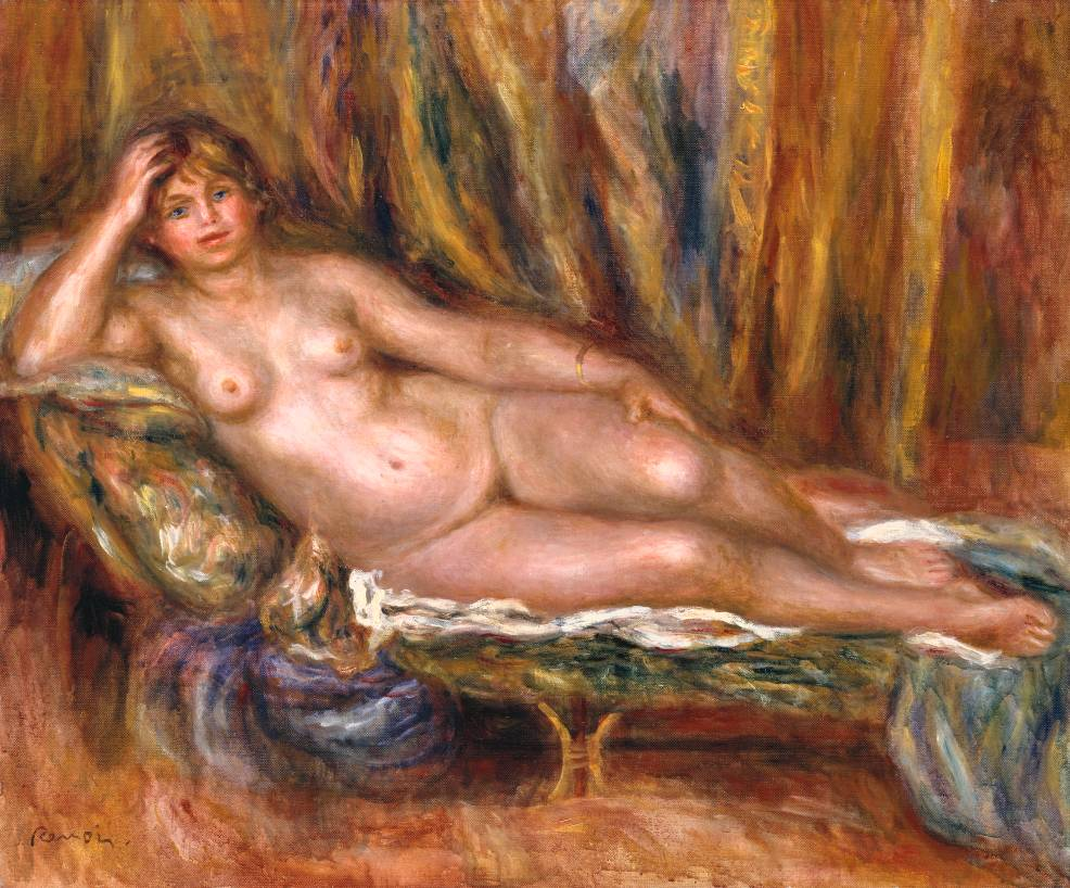 Nude on a Couch 1915 by Auguste Renoir 1841-1919