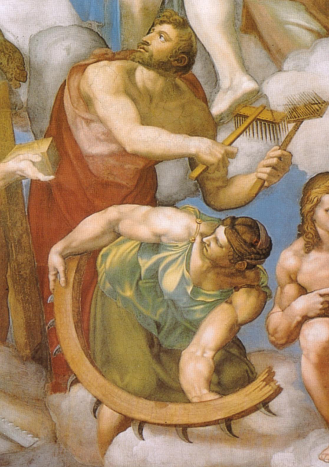 Michelangelo,_giudizio_universale,_dettagli_24_san_biagio_e_santa_caterina