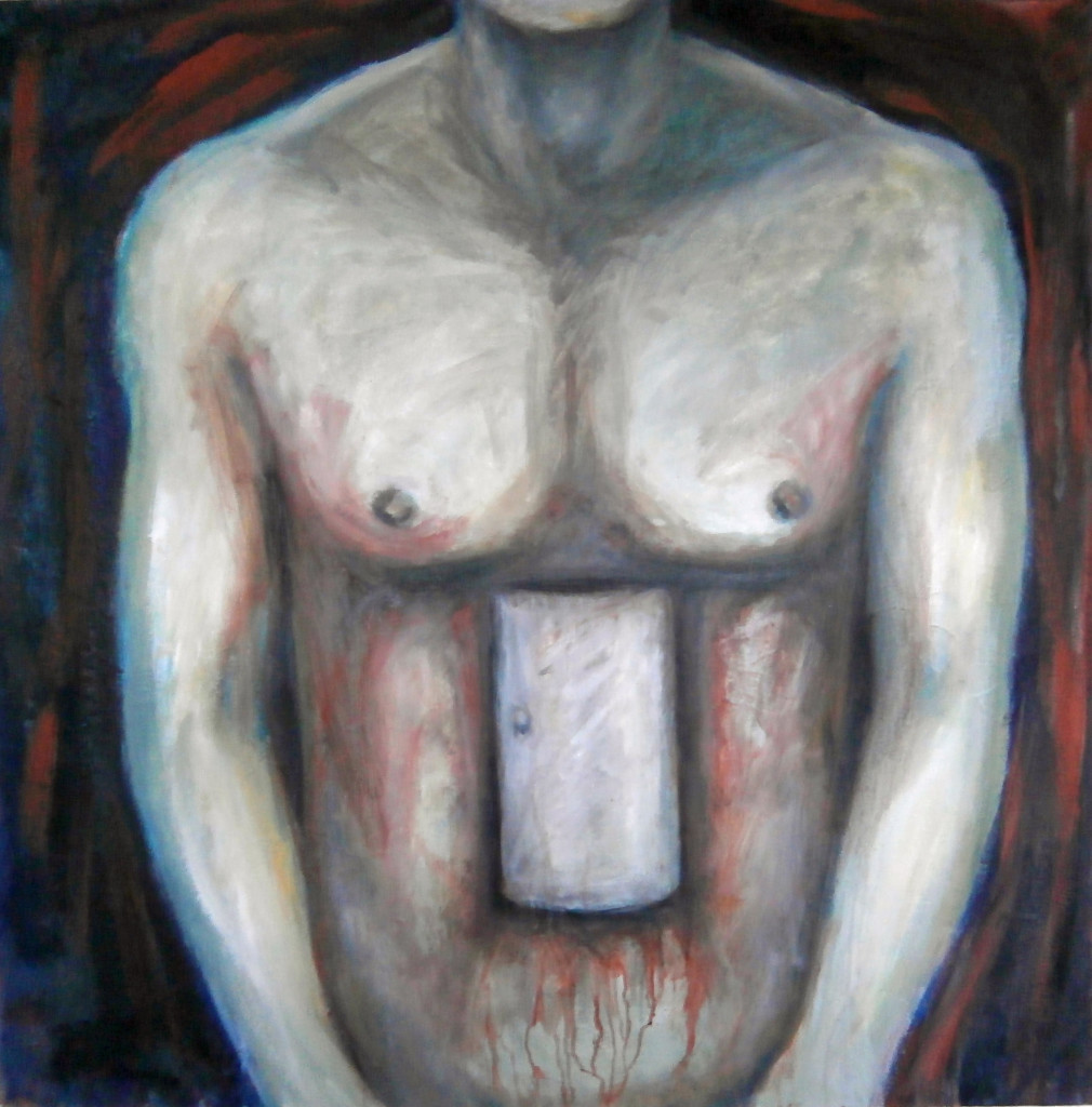 Angie de Courcy Bower. Prototype, 2014-15, Oil on canvas, 92 x 92cm