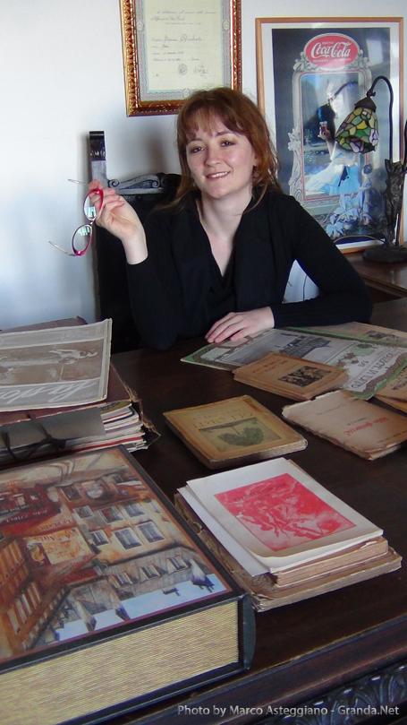 Patrizia Deabate nel suo studio