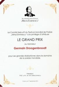 Le Grand Prix, Mihai Eminescu