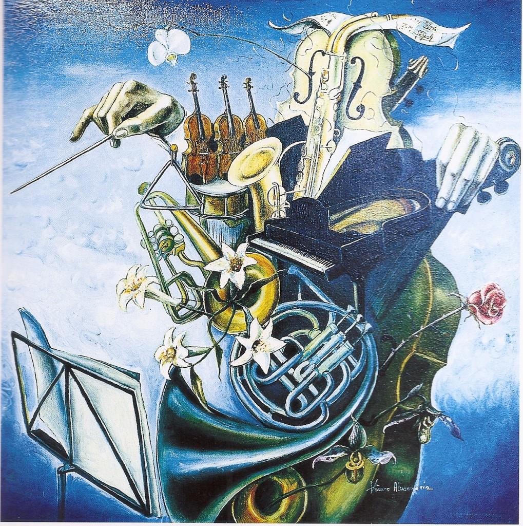 Il direttore d 'orchestra 1989 (cm 60 x 60)