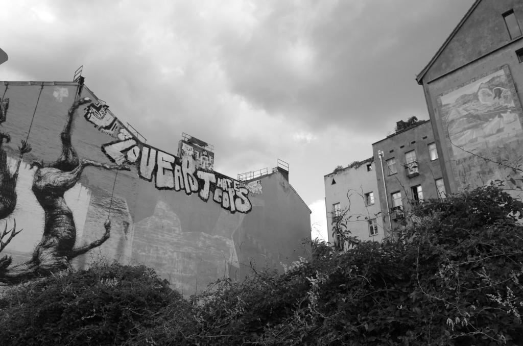 Oranienstraße. Murales sulle case sopravvissute alla guerra. Berlino, 31 luglio 2013. Fotografia: Elda Papa