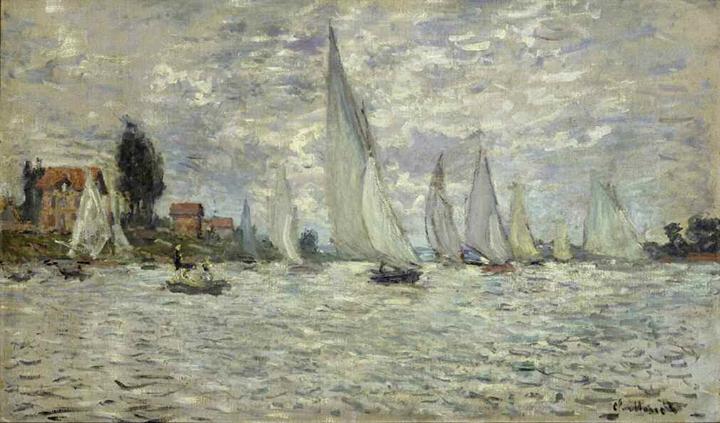 Le barche. Regata ad Argenteuil
