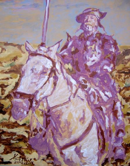 Don Quijote, pintura de Miguel Elias