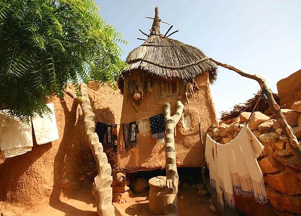 Una tipica capanna di un villaggio Dogon