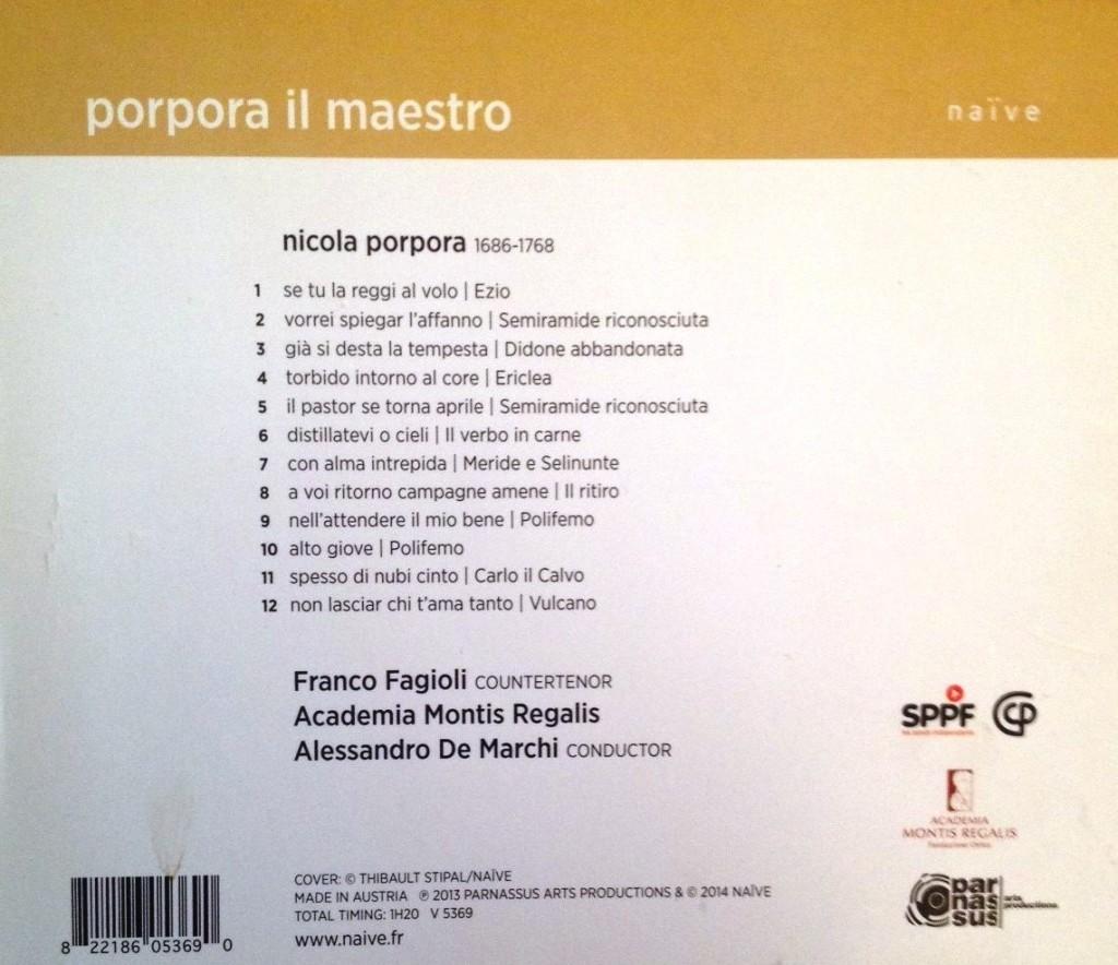 Porpora CD