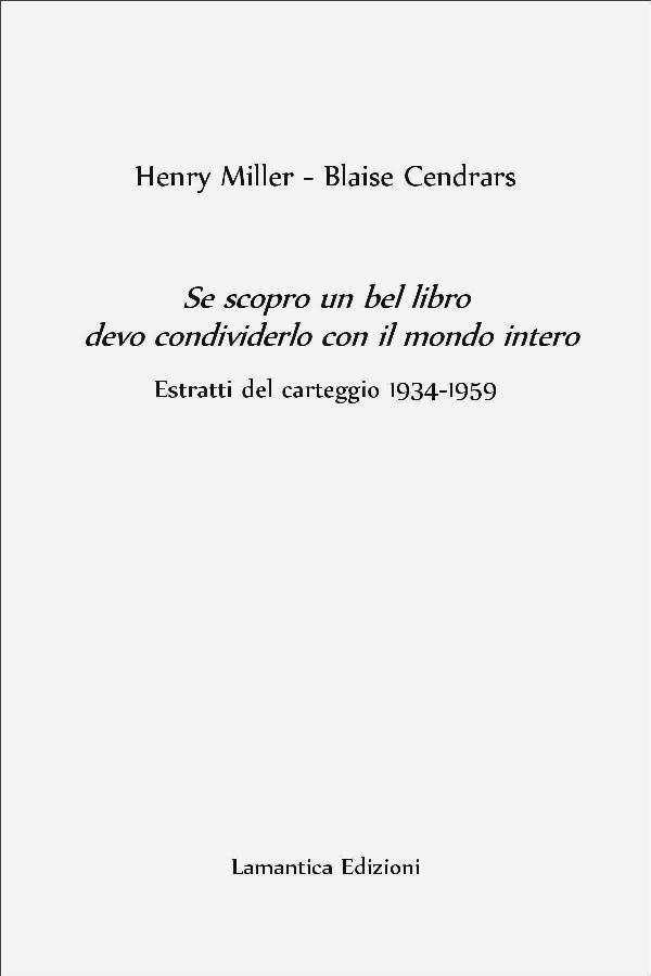 Copertina Miller-Cendrars