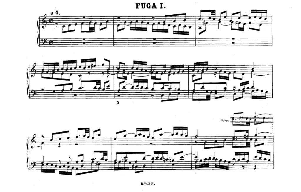 Prima Fuga Clav. ben Temperato Bach