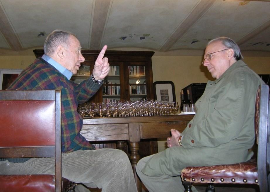 Cantina Oddero, marzo 2014: Giacomo Oddero con Luigi Veronelli