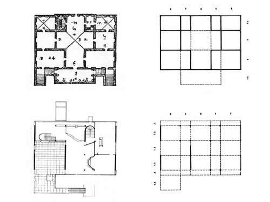 Palladio, villa Foscari e LE Courbousier, villa Stein
