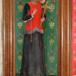 Julian of Norwich, as depicted in the church of Ss Andrew and Mary, Langham, Norfolk. From Wikipedia
