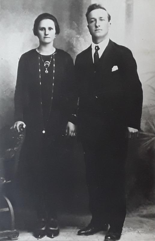 Bartolomeo Pio e Luigia Stella il giorno del matrimonio
