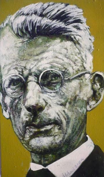 "Antonio Miano ""S. Beckett""  2014, Olio su tela–cm. 47x27"