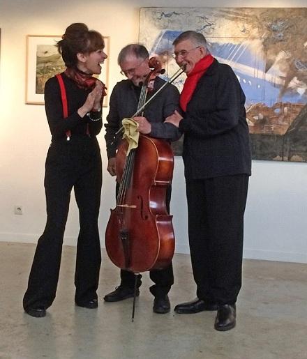 LECTURE POETIQUE ET MUSIQUE avec Véronique-Helena Malvoisin et Mario Urbanet (voix) et      Olivier Journaud (violoncelle)  24.11.2018