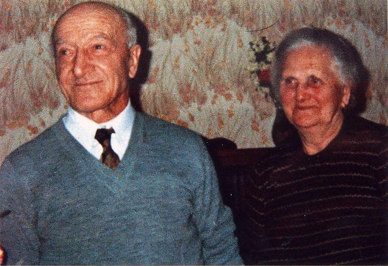 I nonni Berto e Vigina (forse anni Settanta)
