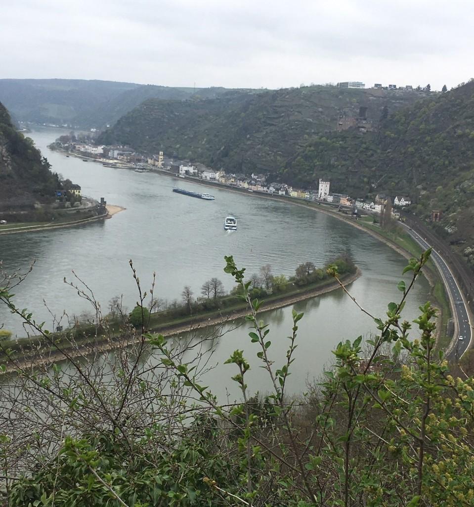 Il Reno visto dalla rupe della Loreley