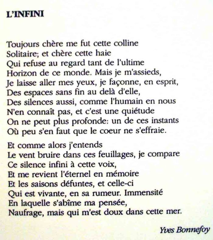 infinito-in-francese