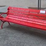 Panchina vicino al Comune di Mondovì