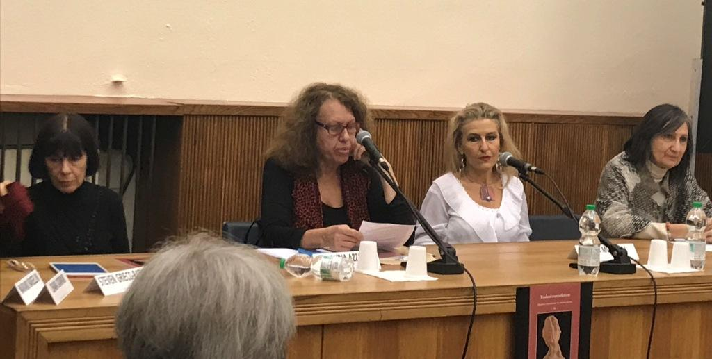 Da sinistra: Mara Cantoni, Claudia Azzola, Elena Mutinelli e Silvia Pio. Foto di Maria Novella Brenelli.