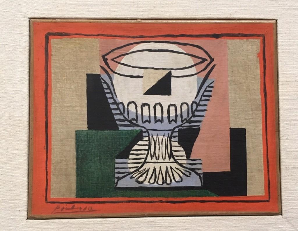 Picasso, Le verre taillé sur fond rose