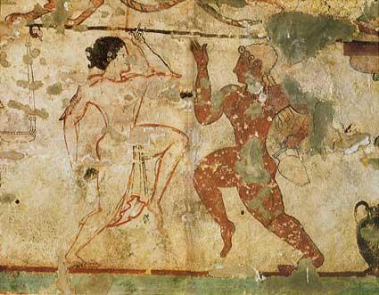 Scena di danza, Tomba delle Leonesse, Tarquinia, fine IV sec. a.C.