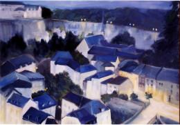 poleggi-lussemburgo-la-sera_olio-su-tela