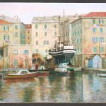 Il porto di Savona, olio su tela, 1990