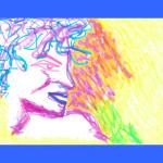 """Ornella Vanoni, versione androgina ispirata alla copertina del CD """"E poi... la tua bocca da baciare"""", 2001"""