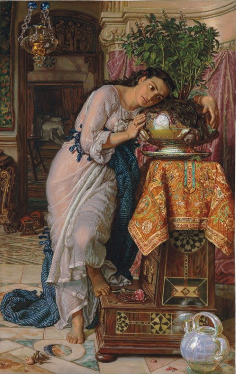 Isabella and the Pot of Basil by William Holman Hunt, 1868 (Public Domain)